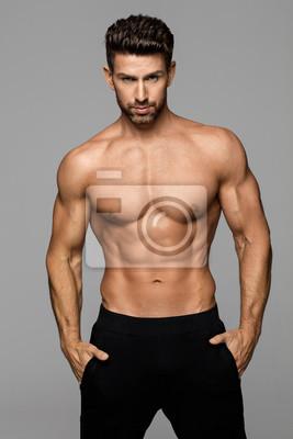Bild Fitness männliche Modell posiert