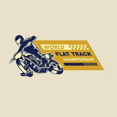 Bild Flachbahn-Racer-Illustration