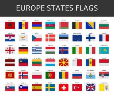 Bild Flag of Europe besagt, Vektor-Set