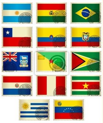 Flag Stamps_South Amerika