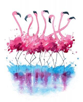 Bild Flamingos Aquarellmalerei