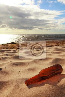 Bild Flasche auf Strand