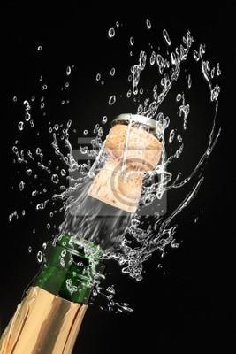 Flasche Champagner bereit zum Feiern