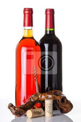 Bild Flaschen Wein und einen Korkenzieher