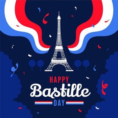 Bild Flat Bastille Day Illustration_3