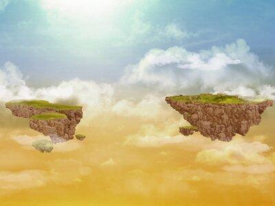 Bild Fliegende Inseln in den Himmel.