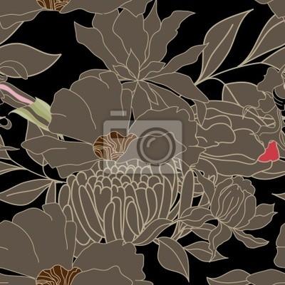 Flora nahtlose Tapete