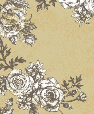 Floral Hintergrund mit Rosen