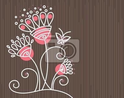 Floral Hintergrund mit Schmetterling