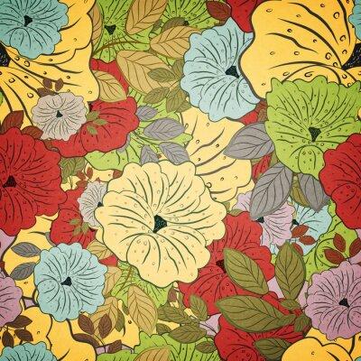Bild Floral Nahtlose Grunge Farbigen Muster