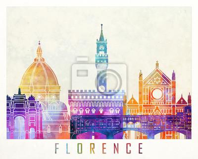 Bild Florenz-Markstein-Aquarellplakat