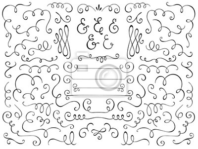 Bild Flourishes. Hand drawn flourishes and ampersands.