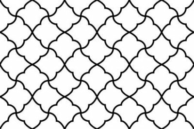 Bild Flower geometric pattern. Seamless background. White and black ornament. Ornament for fabric, wallpaper, packaging. Decorative print