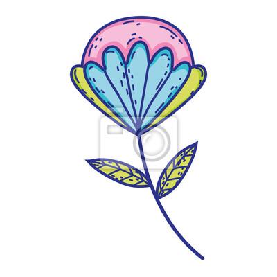 Bild flower with leafs icon