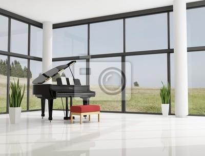 Flügel in einem luxus-interieur leinwandbilder • bilder Ebenholz ...