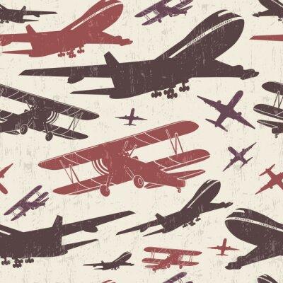 Bild Flugzeug Retro nahtlose Vorlage