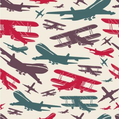 Bild Flugzeug retro nahtlose Vorlage, alten Hintergrund strukturiert für Poster