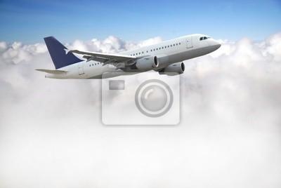 Bild Flugzeug über Himmel