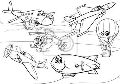 Flugzeuge Flugzeuggruppe Malvorlagen Leinwandbilder Bilder