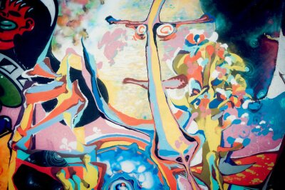Bild Fond peinture abstraite