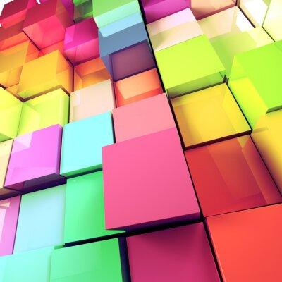 Bild fondo abstracto de Colores de cubos