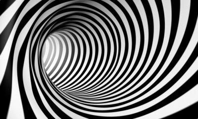 Bild Fondo espiral abstracta 3d en blanco y negro