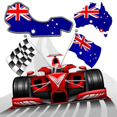 Bild Formula 1 Red Race Car GP Australia