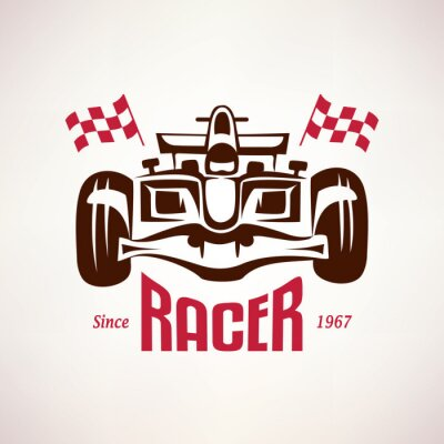 Bild formula racing car emblem, race bolide symbol