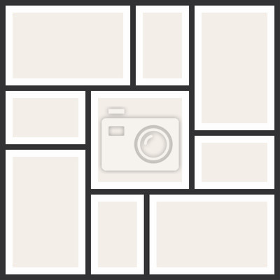 Bild Foto Collage Rahmen. Vintage Fotoalbum, Anwendungsvorlage