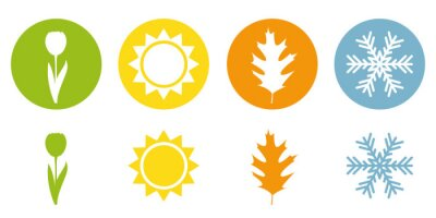 Bild four season summer spring autumn winter symbol vector illustration EPS10