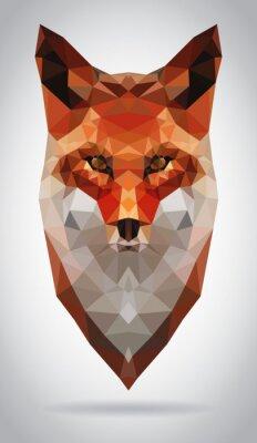 Bild Fox Kopf Vektor isoliert geometrische moderne Illustration
