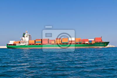 Bild Frachtschiff verlässt den Hafen