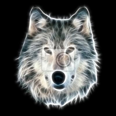 Fractal Illustration Wolf