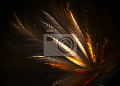 Bild Fractal Pinnate Winged Topknot Hintergrund - Fractal Art