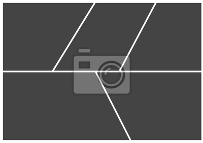 Bild Frame for photo collage or picture vector illustration. Template frame for photo.  Layers grouped for easy editing illustration. For your design.