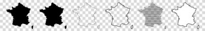 Bild France Map Black | French Border | State Country | Transparent Isolated | Variations
