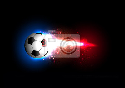 Frankreich Fußball Licht Banner mit einem Fußball