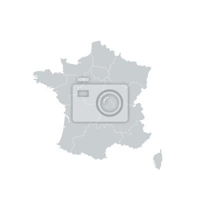 Bild Frankreich Regionen Karte