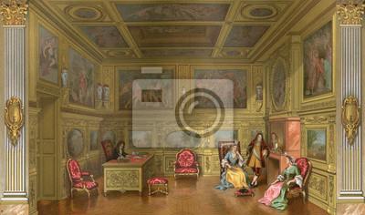 Bild Französisches Aristokratisches Zimmer. Datum: Mitte des 17. Jahrhunderts