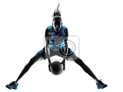 Frau Basketball-Spieler-Silhouette