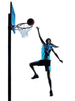 Frau Basketballspieler Silhouette