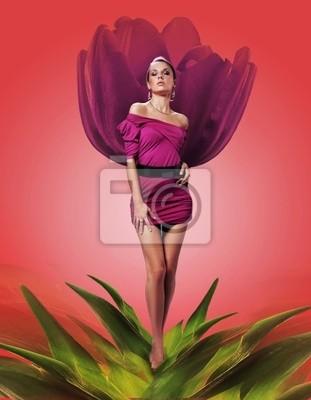 Frau in der Blüte