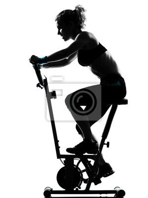 Frau Radfahren Trainingseignunglage