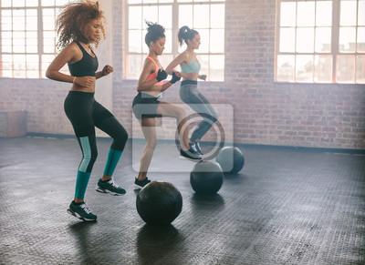 Bild Frauen Ausübung in Aerobic-Klasse