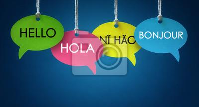 Bild Fremdsprachige Kommunikation Sprechblasen