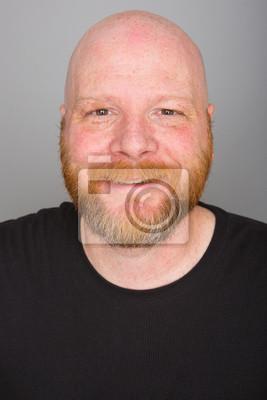 Freundliche Glatze Mann Mit Einem Bart Leinwandbilder Bilder