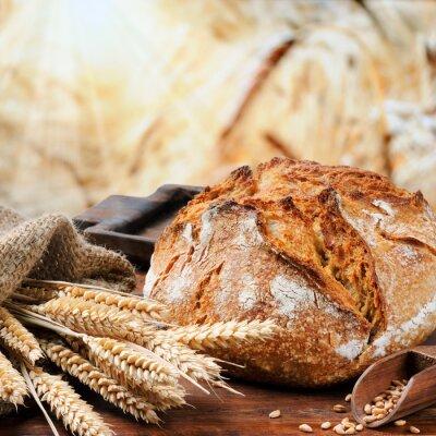 Bild Frisch gebackene traditionelle Brot
