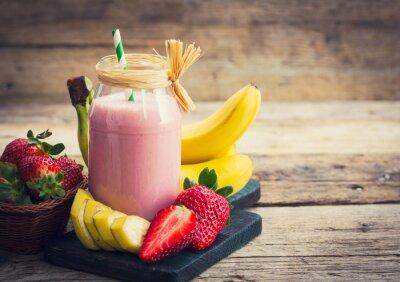Bild Frische Erdbeere und Bananen-Smoothie