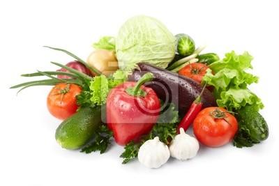 Bild frisches Gemüse auf dem weißen Hintergrund