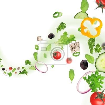 Frisches Gemüse in Bewegung